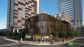 3D Architectural Exterior Rendering CGI Design