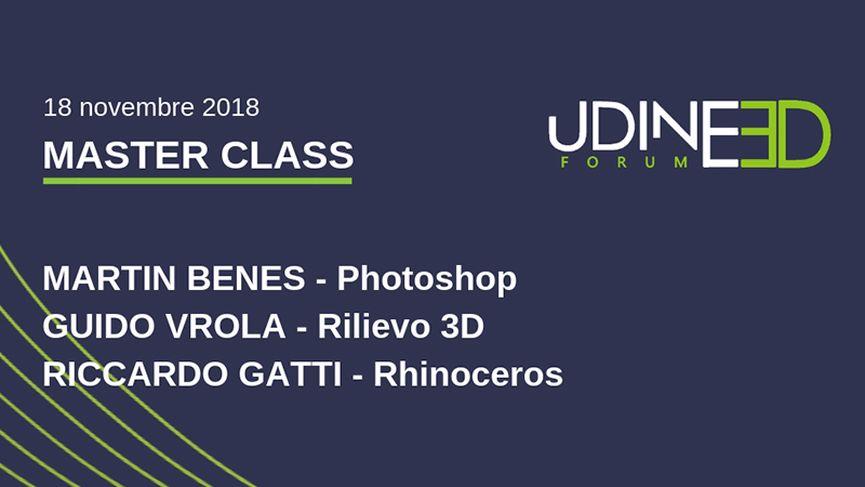 Le masterclass di Udine 3D Forum 2018