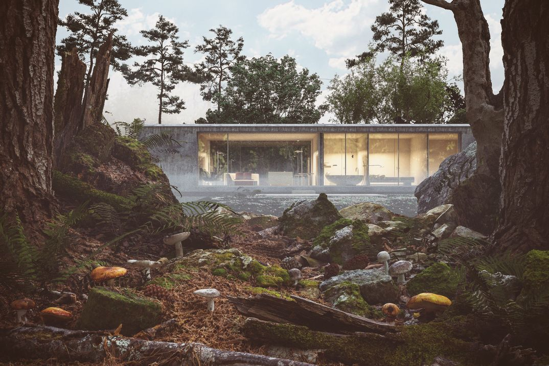 Forest house Vray Quixel