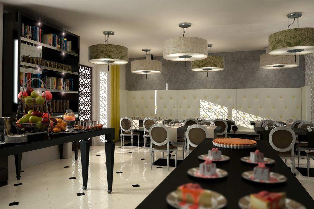 Realizzazioni Rendering fotorealistici 3d : Sale Comuni Alberghi