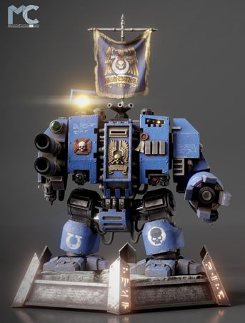 Warhammer 40k - Ultramarine Dreadnought