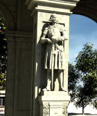3 statue del Monumento a G.Verdi