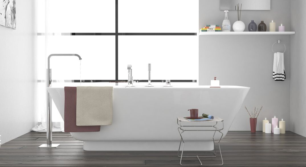 Interior bathroom render