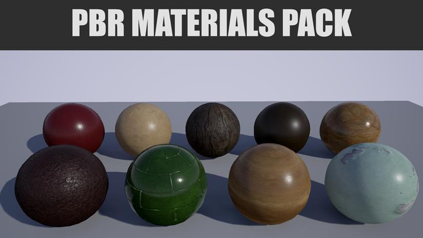 PBR Materials Pack da scaricare gratuitamente