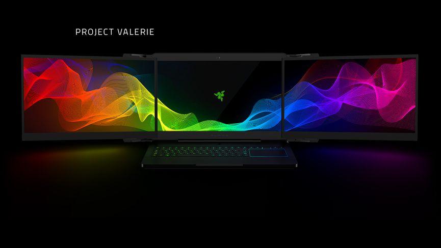 Razer Project Valerie: il primo notebook con 3 display 4k!