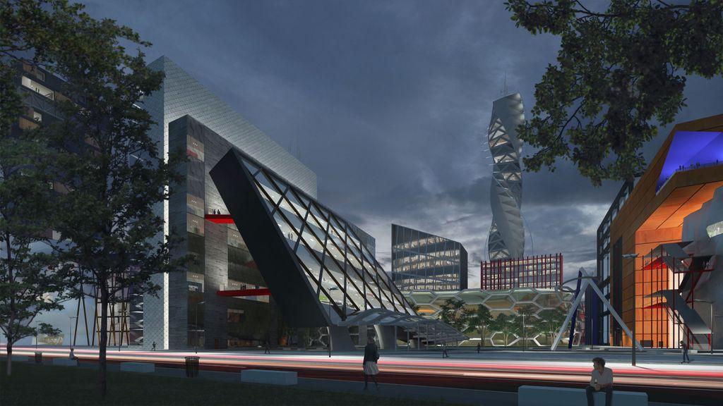 Leaning office - Moretti futurista