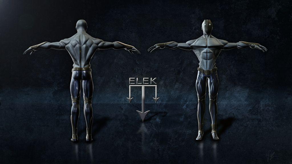 Primo lavoro di modellazione - ELEK - Uomo pesce