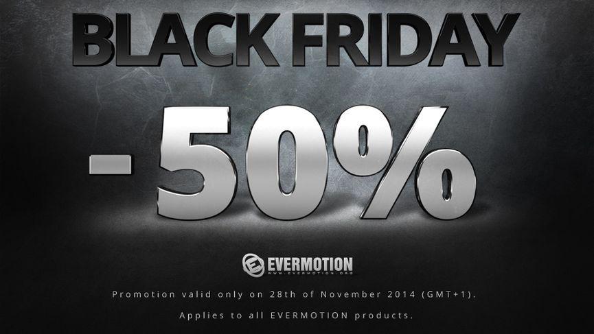 Evermotion: tutti i prodotti al 50% solo per oggi!