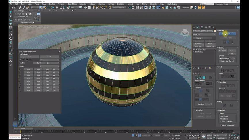 UV Ultimate Trim - script gratuito per 3ds Max