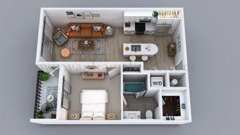 3D Semi-Classic Floor Plan Rendering Service by Yantram 3D Animation Studio, Australia - Sydney