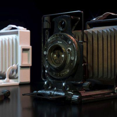 Vintage Camera Corona Render 1.5