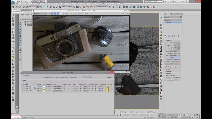 V-Ray 4.0 per 3ds Max. La potenza di Optix Denoiser