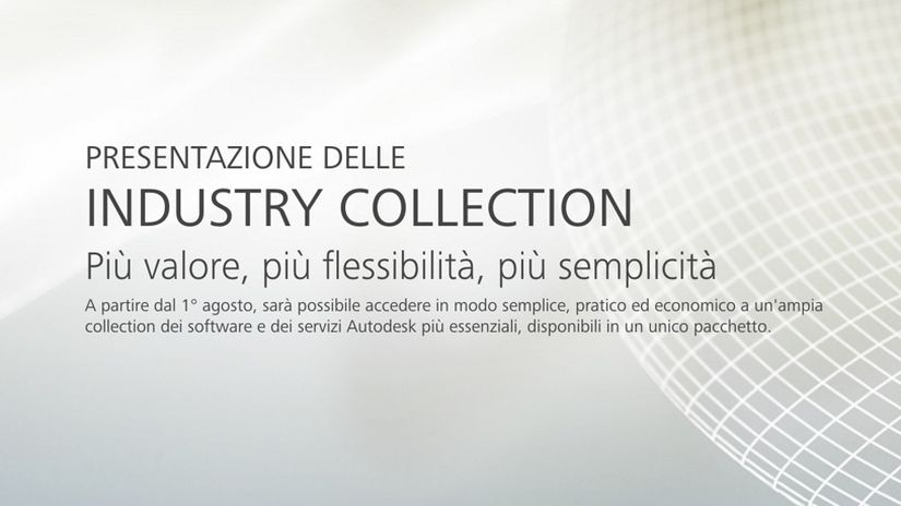 Autodesk annuncia le Industry Collection