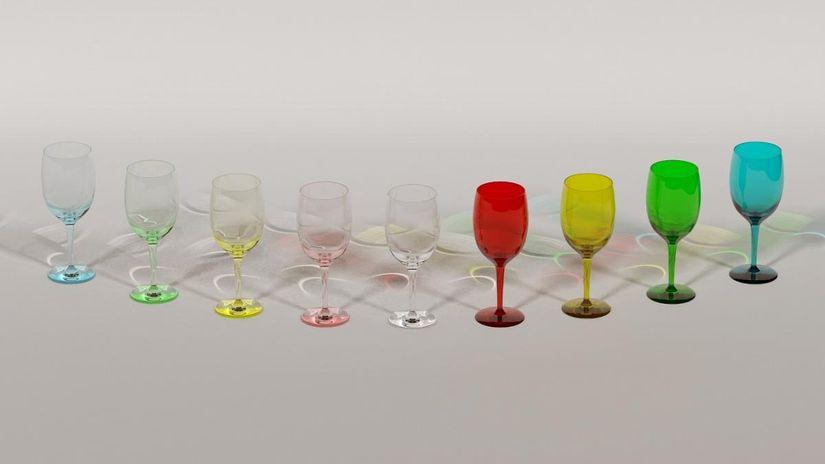 Bicchiere in vetro realistico con vray