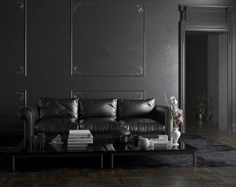 Living room in black
