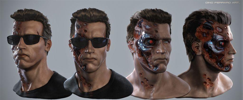 Arnold Schwarzenegger Terminator by Dino Ferraro 01.jpg