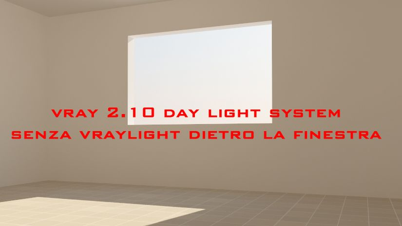 Vray 2.10 Day light system indoor