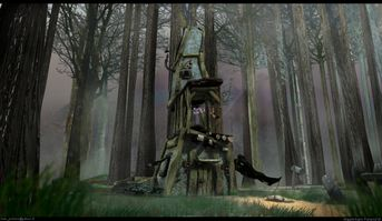 Casa della strega abbandonata