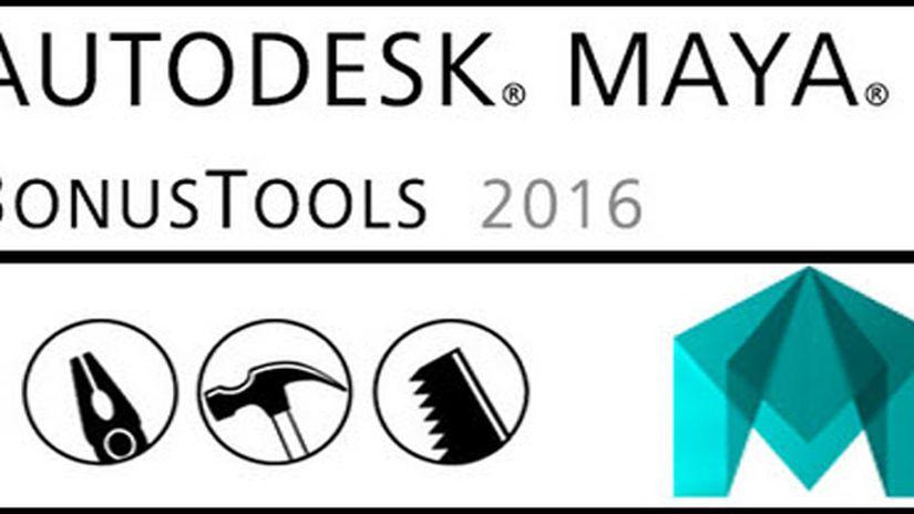 Maya Bonus Tools 2016 (ora anche per Maya LT 2016)