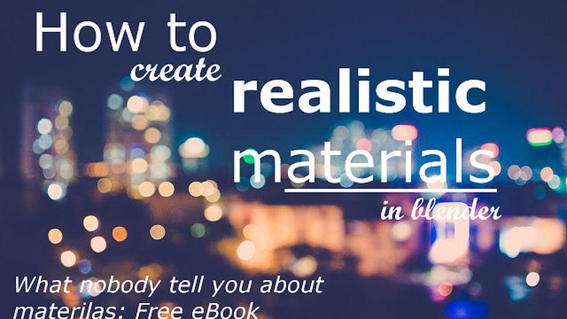 Blender materials - free e-book