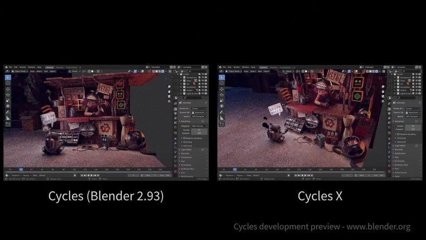 Blender Foundation rivela Cycles X