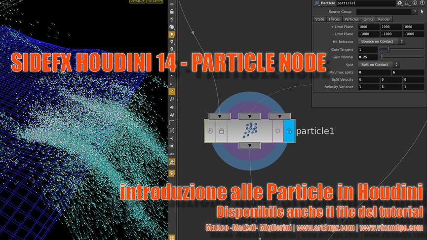Tutorial SideFX Houdini - Particle node