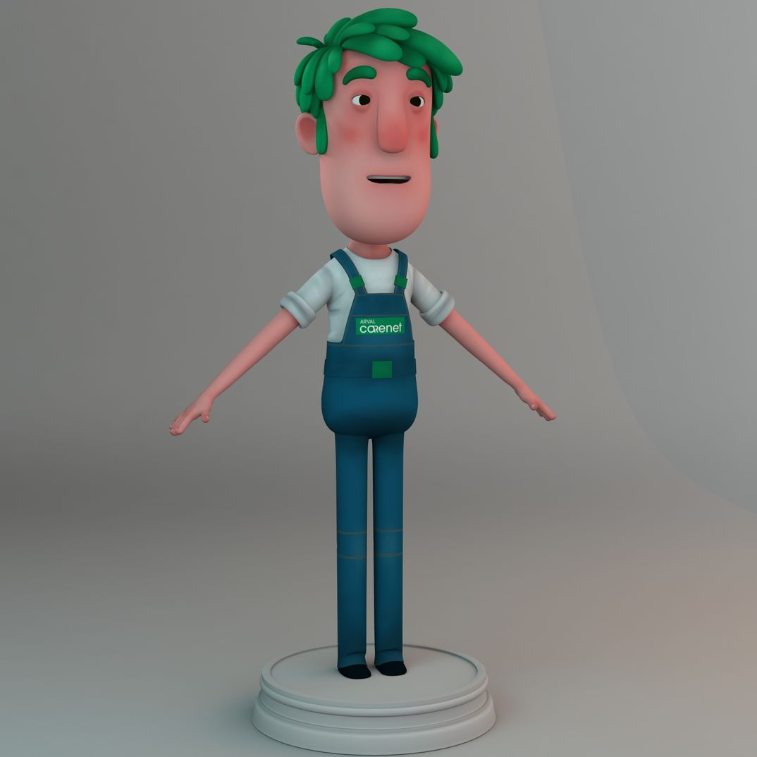 Character Design new Digital Mascotte for Arval