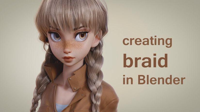 Creare una treccia con Blender