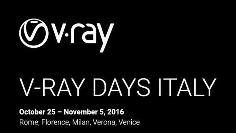 V-Ray Days Italy - programma completo e apertura iscrizioni