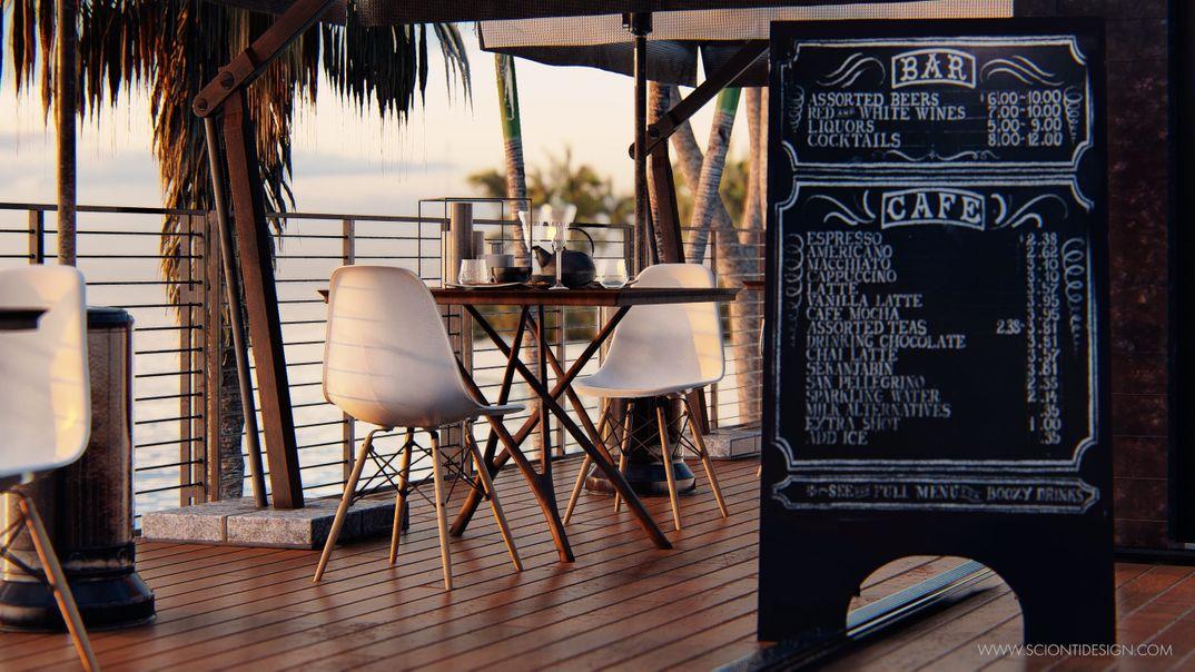 Visualization Restaurant beach Lumion 9