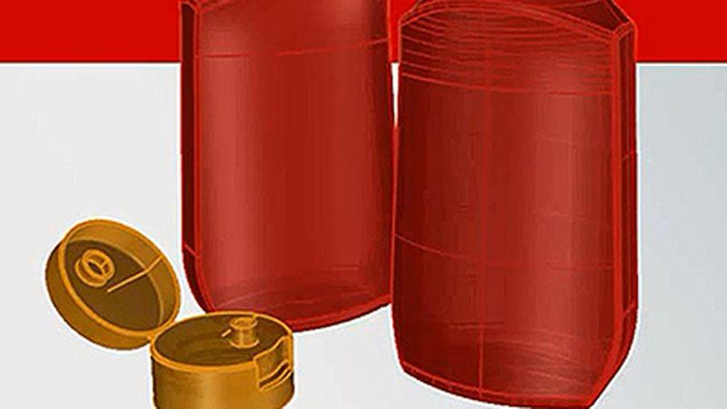 Modellazione di una bottiglia per ketchup