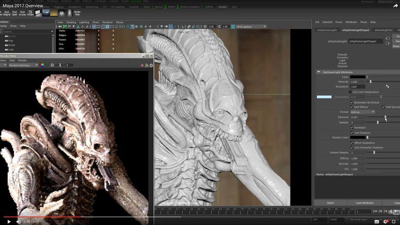 Autodesk Maya 2017 - Arnold diventa il motore di render di default