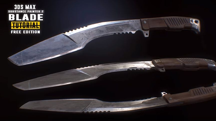 Create a Blade: Modeling, Unwrapping, Baking and PBR Texturing