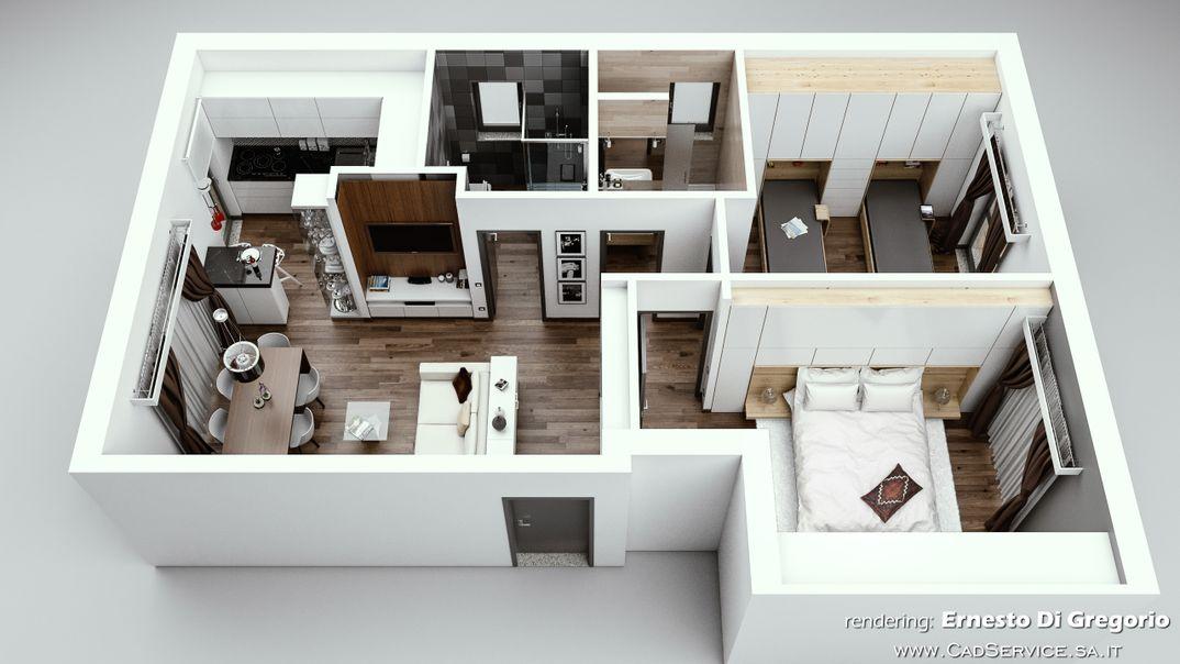 Ristrutturazione di un appartamento.