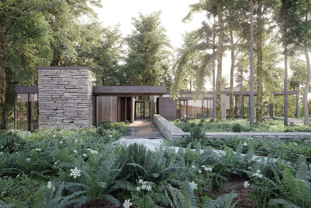 Villa in a forest
