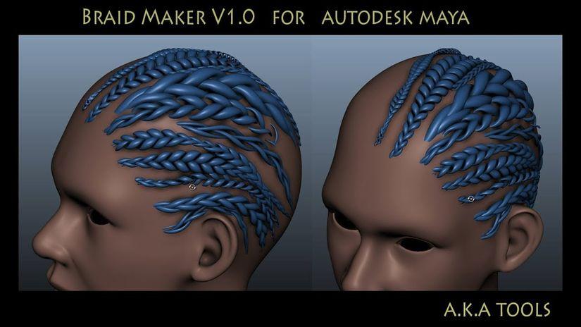 Braid Maker 1.0 per Maya