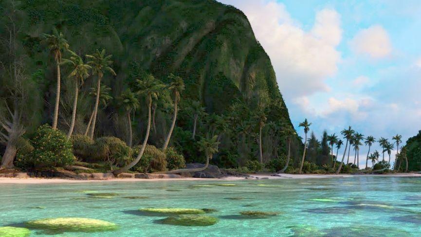 Walt Disney Animation Studios rilascia gratuitamente la scena dell'isola di Oceania