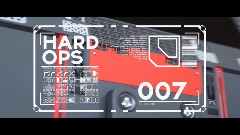 Hard Ops v007 per Blender