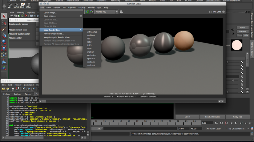 Render Pass with Maya - Write to Color Buffer usage