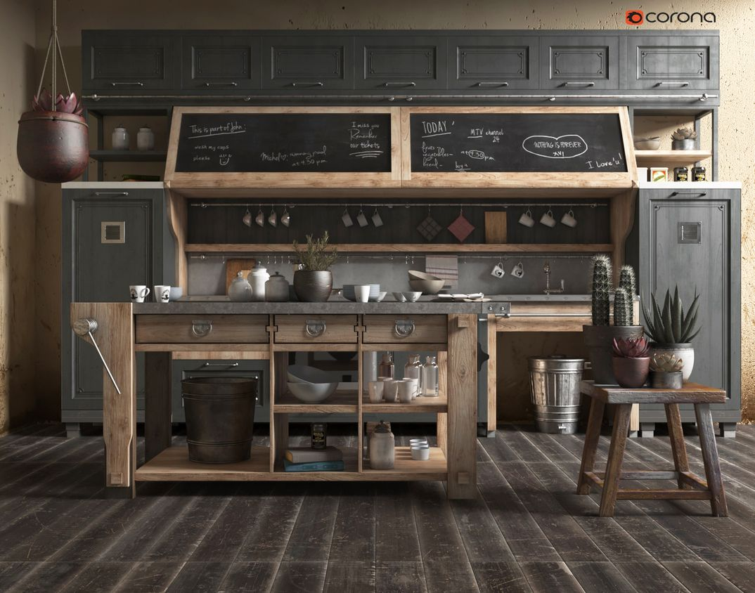 Old Kitchen Wood