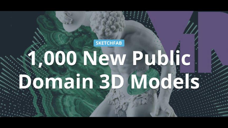 Oltre 1000 modelli 3D da scaricare gratuitamente