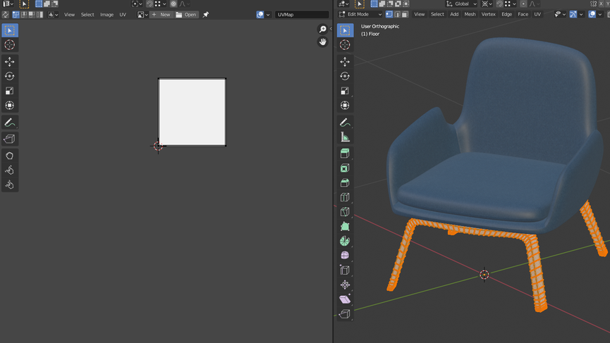 Unwrapping con Blender