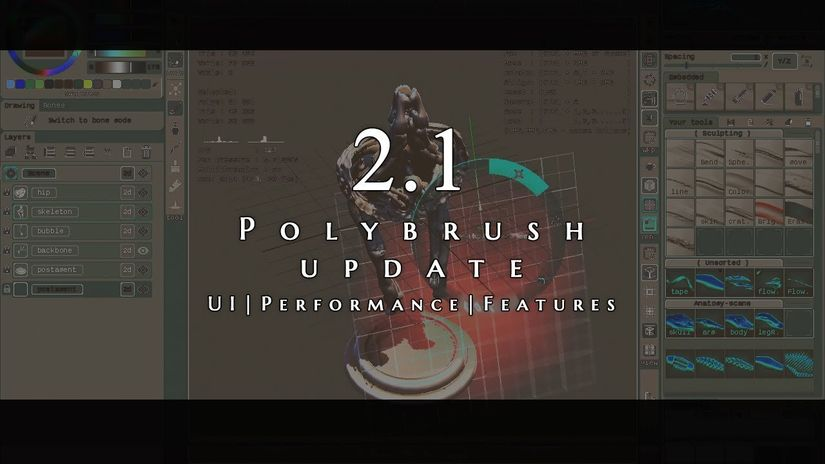 PolyBrush 2.1 - Sculpting 3D a basso costo