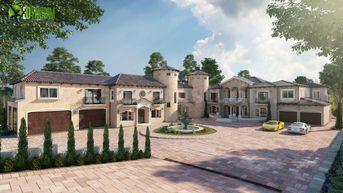 Ultra Semi-Modern Villa Exterior Design Ideas by architectural rendering studio Amsterdam.
