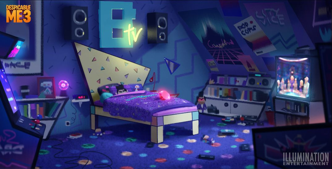Evil Bratt Room da Despicable Me 3