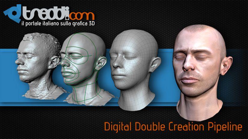 Scansione 3D di un volto partendo da una serie di foto