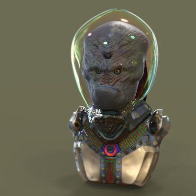 alien + suit