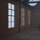 Rendering di un interno in stile industriale