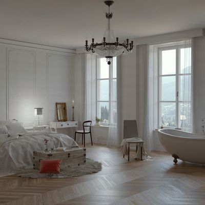 Bedroom classic scene
