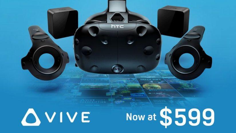 HTC Vive - price cut ufficiale di 200 dollari